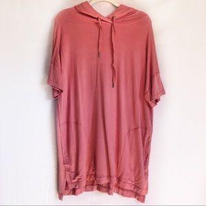 NWT PHILOSOPHY oversized short sleeve hoodie sz XL